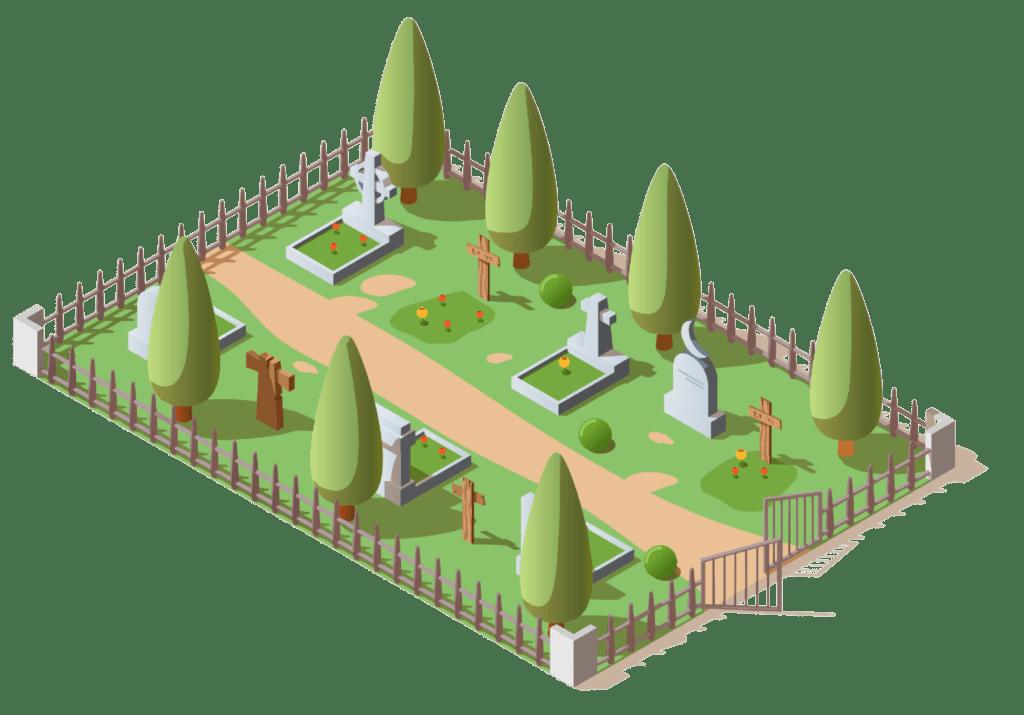 cimetière envahi de verdure grâce à la loi Labbé